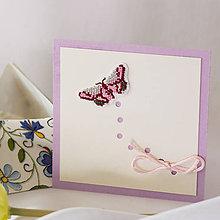 Papiernictvo - Leť si motýlik III - pozdrav - 8202217_
