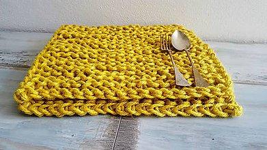 Úžitkový textil - Štrikovaná podložka z jutoviny - 8204991_