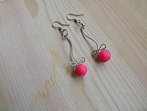 Náušnice - Pink - 8204096_