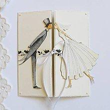 Papiernictvo - Pohľadnica svadobná - 8203268_