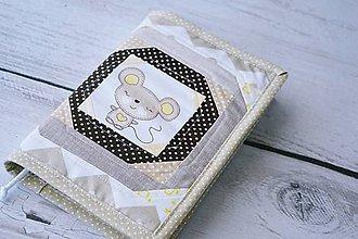 Papiernictvo - Obal na knihu / diár hnedá myška 1. - 8204984_