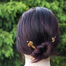Ozdoby do vlasov - Dubové do vlasov - drevené ihlice - 8205400_