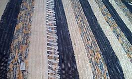 Úžitkový textil - Koberček pruhovaný pestrý - 8204352_