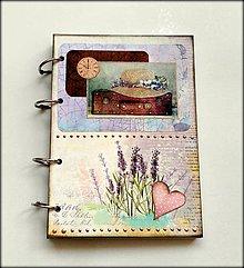 Papiernictvo - Linajkový scrapbookový zápisník ,,Lavander\