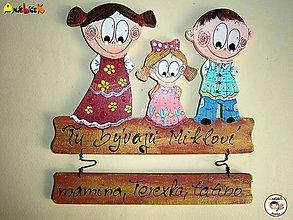 Tabuľky - Menovka - rodinka - 8205235_
