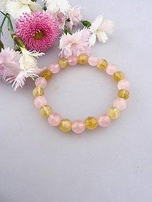 Náramky - citrín brúsený ruženín náramok - 8203500_