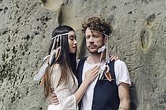 Ozdoby do vlasov - Multifunkčná čelenka z bielej kožičky (1kus) - 8205012_