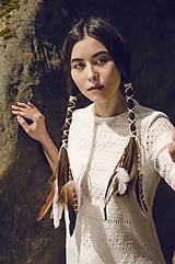Ozdoby do vlasov - Multifunkčná čelenka z bielej kožičky (1kus) - 8205016_