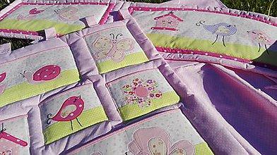 Textil - ružovučká postieľočka pre Kvetku - 8205017_