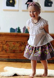 Detské oblečenie - O kytkách a veverkách - 8203261_