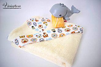 Detské doplnky - Bambusové Kapucíno – Detská osuška s kapucňou - 8204292_
