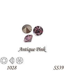Korálky - SWAROVSKI® ELEMENTS 1028 Xilion Chaton - Antique Pink, SS39, bal.1ks - 8205581_