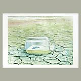 Obrazy - Oáza - originál, velký akvarel - 8203816_