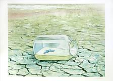 Obrazy - Oáza - originál, velký akvarel - 8203817_