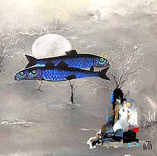 Grafika - Mesačné ryby - 8206933_