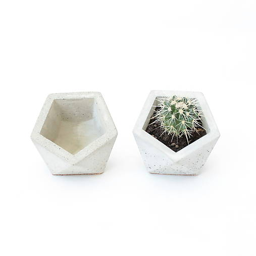 Betónový kvetináč Icosahedron