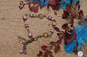 Sady šperkov - Romantický set s rodonitom - 8208251_