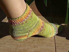 Obuv - Členkové ponožky - rozkvitnutá lúka - 8205948_