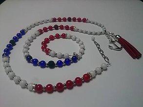 Sady šperkov - Námornícky aromanáhrdelník s náušnicami - 8206249_