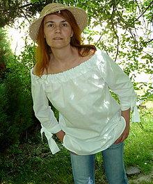 Košele - Košeľa holé plecia, mašľové manžety - 8208102_