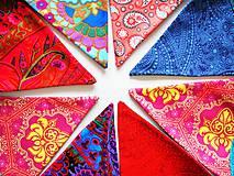 Dekorácie - Girlanda farebná s tyrkysovou šnúrkou - 8207415_