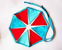 Dekorácie - Girlanda farebná s tyrkysovou šnúrkou - 8207420_