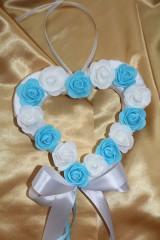 Svadobné srdce na dvere svetlomodré