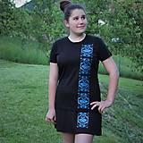 Sukne - Športová minisukňa modrý ornament 2 - 8208205_