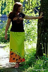 - Sukňa batikovaná, maľovaná, etno  LAKŠMÍ  - 8206652_