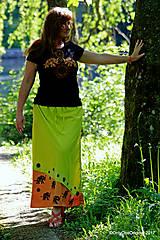 Sukňa batikovaná, maľovaná, etno  LAKŠMÍ