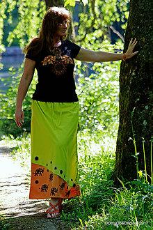 Sukne - Sukňa batikovaná, maľovaná, etno  LAKŠMÍ - 8206652_