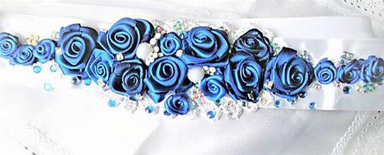 Opasky - Opasok s ružičkami - 8208057_