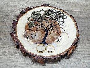 Prstene - vintage svadba/vankúšik pod svadobné prstene XXII - 8205723_