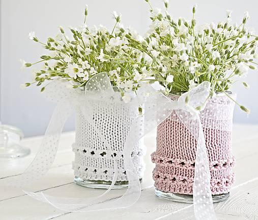 Svadobná vázička biela/ružová