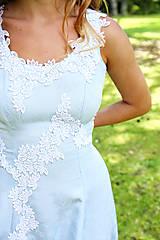 Šaty - Svadobné/spoločenské šaty s ľadovými kvetmi Muriel - 8207478_