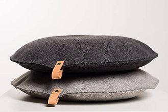 Úžitkový textil - PUF - poduška na sedenie Grey - 8205794_