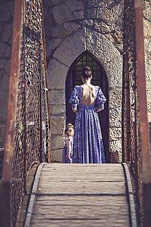 Šaty - Modrotlač dlhé - 8205835  93b0029635e