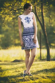 Šaty - Modrotlač krátke - 8205868  d8784ebfcf9