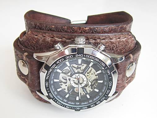 27378ef8d Hnedý kožený remienok s hodinkami winner / leon - SAShE.sk ...