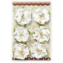 Papier - Papierové kvety - biele - 8206560_