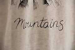 Tričká - Ručne kreslené tričko s horami - 8206587_