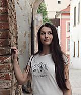 Tričká - Ručne kreslené tričko s horami - 8206588_