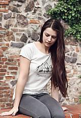 Tričká - Ručne kreslené tričko s horami - 8206590_
