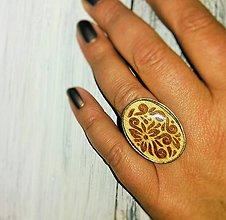 Prstene - Drevený prsteň - 8208580_