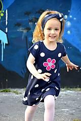 Detské oblečenie - Letné šaty Dots & flower - 8205933_
