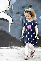 Detské oblečenie - Letné šaty Dots & flower - 8205934_