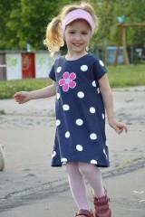 Detské oblečenie - Letné šaty Dots & flower - 8205936_