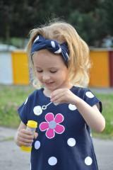 Detské oblečenie - Letné šaty Dots & flower - 8205937_