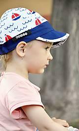 Detské čiapky - Letná šiltovka Navy & Boat - 8208907_