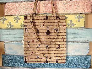 Nákupné tašky - Taška pro kočičí hudebnici - 8206290_